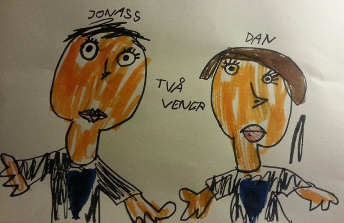 Dan and Jonas in the studio